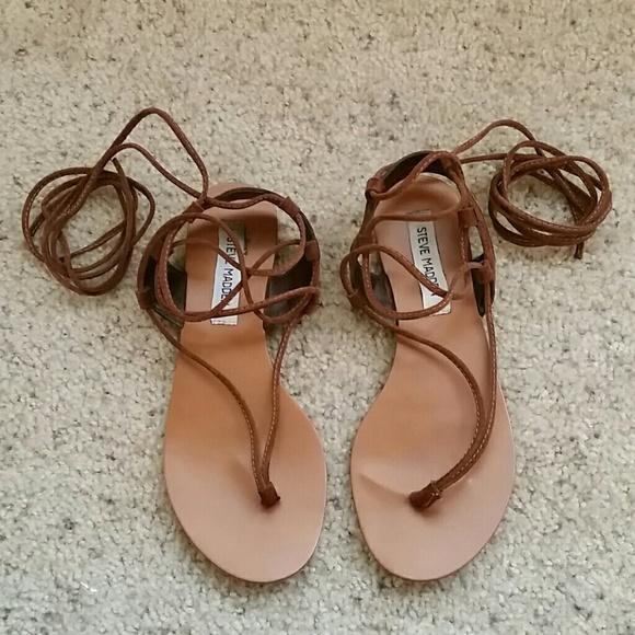 14ecd58618e Steve Madden Brown Leather Sandals - 7.5. M 5a6a3d8946aa7cdc8e47e2b1